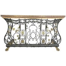 brass tables for sale ornate iron brass and bronze console table for sale at 1stdibs iron