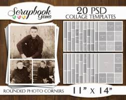storyboard templates set of 20 20x20 square photoshop collage