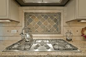 stone backsplash in kitchen modern style stainless steel kettle decorated diamond shaped stone