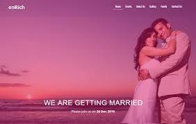 free wedding website wedding website template by the webthemez