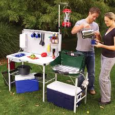 Outdoor Kitchens For Camping by Portable Outdoor Cooking Table Kitchen Sink Station Camping