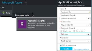 java web app analytics with azure application insights microsoft