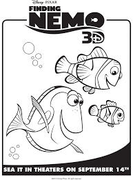 nemo coloring pages to print nemo marlin u0026 dory free