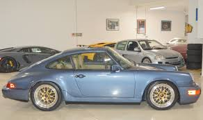stanced porsche 964 1990 porsche 964 911 rare baltic blue metallic real muscle