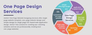 one page web design single page website template design