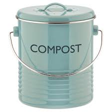 compost canister kitchen typhoon summer house blue compost caddy 2 6 quart