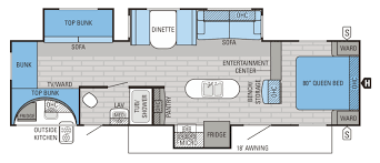 Must See Bunkhouse RV Floorplans  Welcome To The General RV - Travel trailer with bunk beds