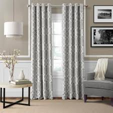 Blackout Curtains Gray Elrene Blackout Gray Blackout Window Curtain Panel 52 In