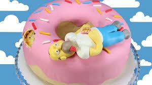 simpsons doughnut cake homer simpson kuchen donut cake youtube