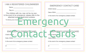 emergency contact card template 28 images how to prepare for