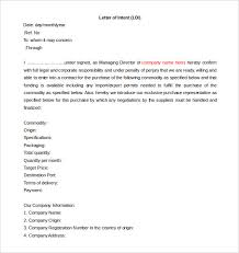 sample draft letter of intent cover letter sample