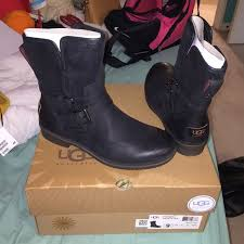 womens ugg motorcycle boots 5 ugg shoes ugg s simmens waterproof black boots from