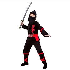 Ninja Halloween Costume Boys Black Power Ninja Kids Boys Fancy Dress Costume Halloween Japanese
