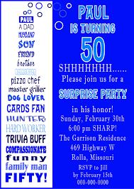 50th birthday party invitations templates invitations templates