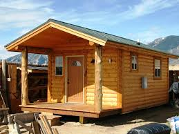 elegant small cabin kits with small modern door can add the