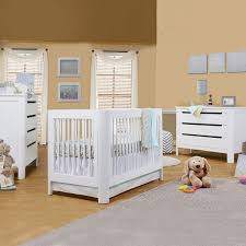 Oak Convertible Crib by Crib And Dresser Set Stylish Furniture White And Brown Ba Nursery