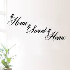 home sweet home diy removable vinyl wall sticker u2013 trendy wall art