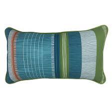 Shop allen roth Red and Green Striped Rectangular Lumbar Pillow