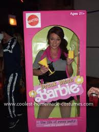 Party Box Halloween Costumes Cool Barbie Box Costume Woman Costumes Halloween