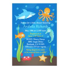 the sea baby shower invitations announcements zazzle