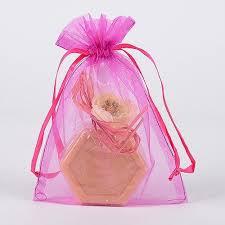 pink organza bags 8 x 14 organza bags