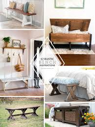 Rustic Bench Coffee Table 12 Rustic U0026 Farmhouse Bench Inspirations The Creative Glow 12