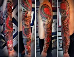 dragon forearm tattoos 28 colored full sleeve tattoos