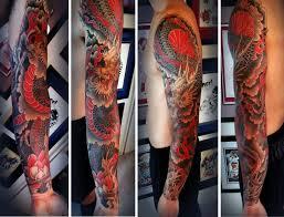 28 colored sleeve tattoos