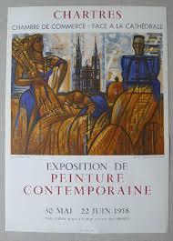 chambre de commerce chartres original poster lithograph by gromaire exposition de peinture