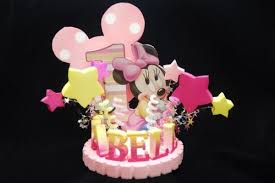 baby minnie mouse 1st birthday baby minnie mouse 1st birthday cake topper adianezh on artfire