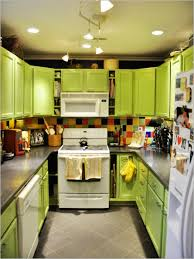 kitchen modern kitchen design for small kitchen with green light