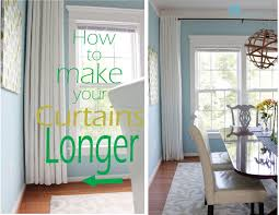 how to make curtains how to make your curtains longer remodelando la casa