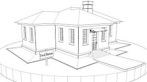drawing home a technical drawing turns into a new house stock footage video