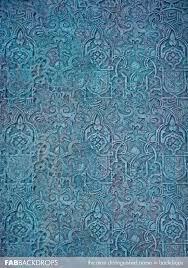 Photo Backdrops Fab Vinyl Blue Vintage Temple Wall Backdrop