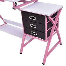 Black Drafting Table Black Pink Adjustable Drafting Table Drawing Desk W Stool Art