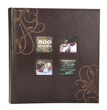 500 page photo album kleer vu photo embroidery leather collection holds
