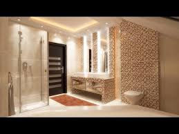 bathroom interior design styling with modern led ceiling lights