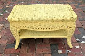 transform a wicker table with paint goodwill industries of the