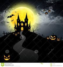 halloween house full moon royalty free stock photo image 21475575