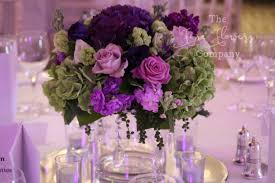 wedding flowers surrey pennyhill park wedding flowers crystals bold purple theme