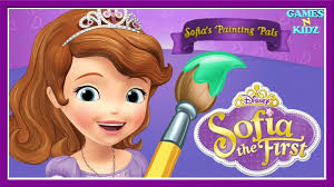 sofia princess sofia painting pals fun coloring pages