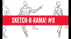 sketch o rama 9 drawing all the muscles youtube