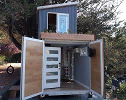 the boxed haus is made of a brand new shipping container with