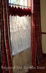 dining room window treatments beyond the screen door