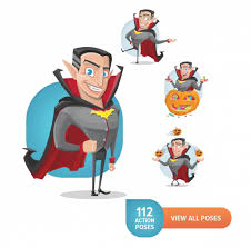 halloween animations clip arts 19 halloween characters in 1900 poses only 24 mightydeals