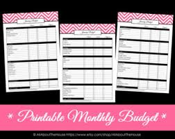 all 7 colours editable budget planner printable household