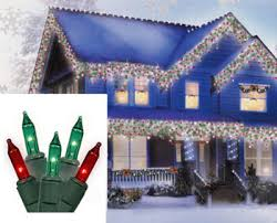 set of 100 red and green mini icicle christmas lights white wire