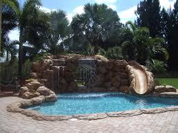 pools with waterfalls blue fountain pools rock waterfall slide pools