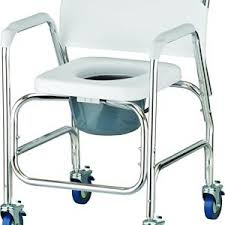 drive medical aluminum shower commode transport chair blue