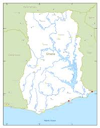Accra Ghana Map Large Scale Rivers And Lakes Map Of Ghana Ghana Africa
